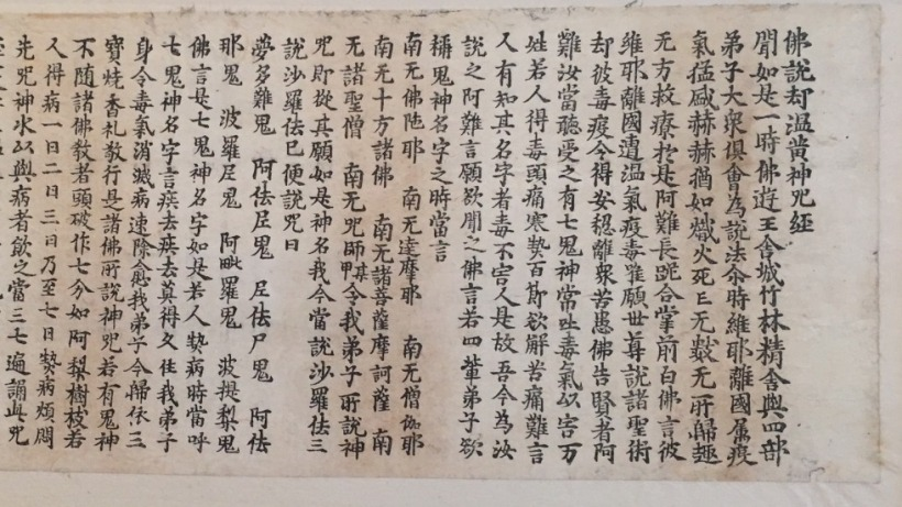 Sutra on Incantations against Epidemic Diseases