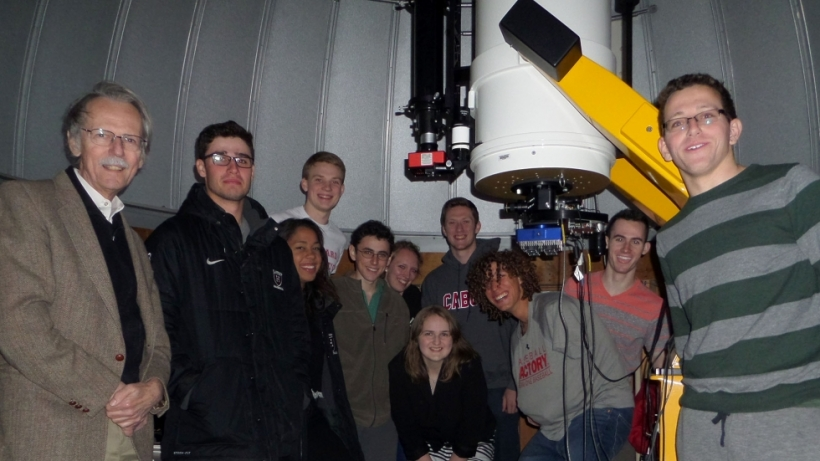 Prof. Charles Alcock's astronomy seminar at the Clay Telescope.
