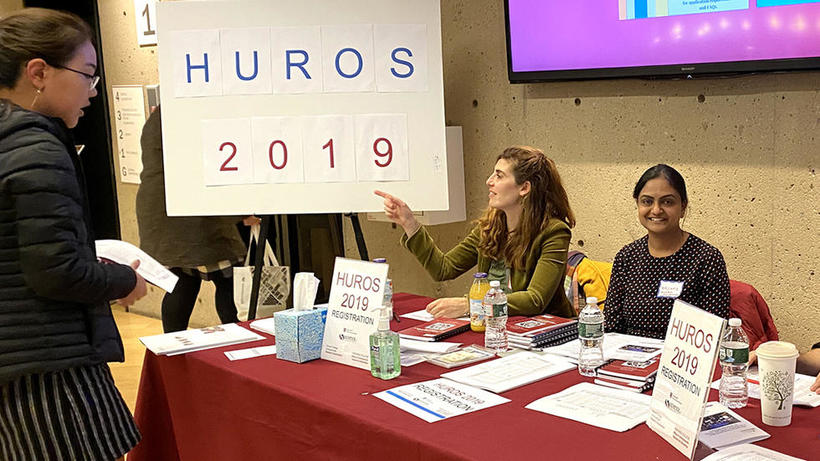 Science Education coordinators sign in table at HUROS 2019 fair