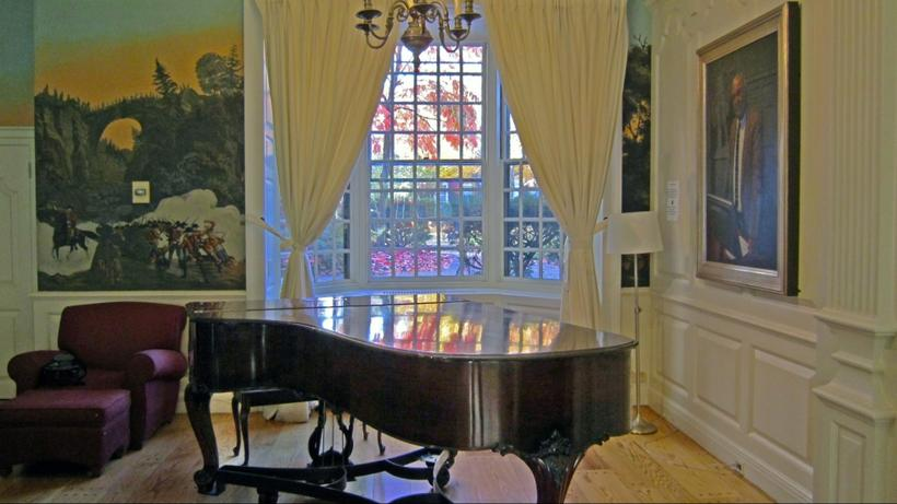 Steinway model A in the Lowell House Junior Common Room