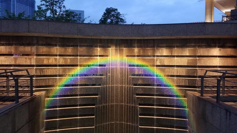 Rainbow effect on building in Japan_photo by Jalem Towler