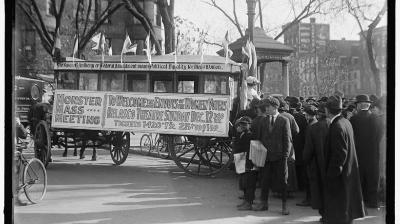 Women's Suffrage bus in 1919