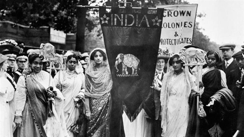 Indian suffragettes in the Women's Coronation Procession