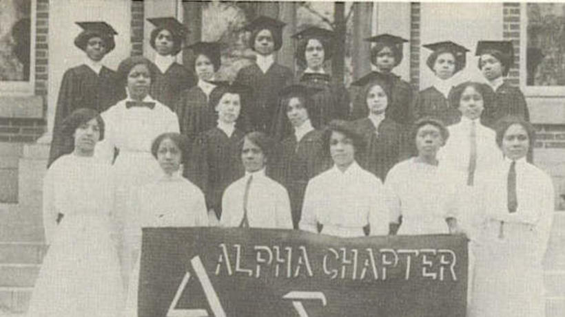 Delta Sigma Theta Sorority, the first Black sorority to march in the women's suffrage movement in the March 1913