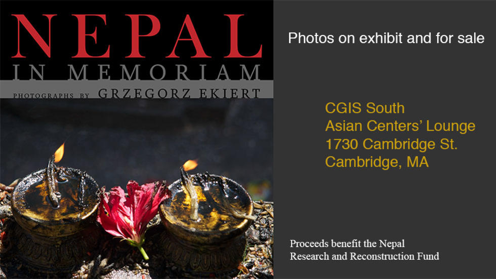 Nepal in Memoriam: Photos on exhibit and for sale