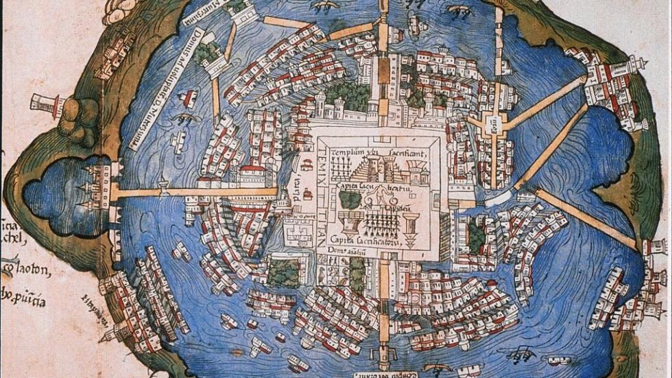 Tenochtitlan: Hernando Cortes's map of the city (1524)