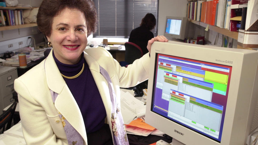 Barbara Grosz with computer