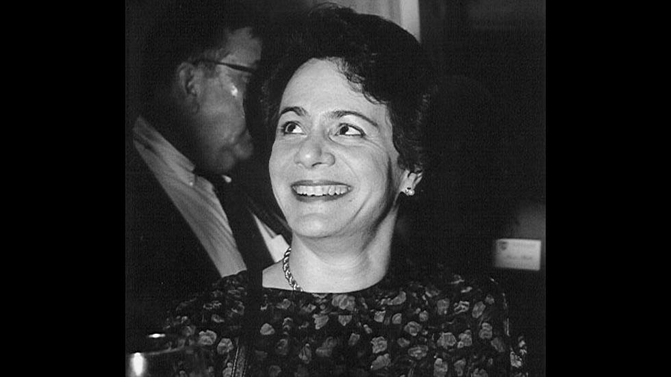 Barbara at a reception