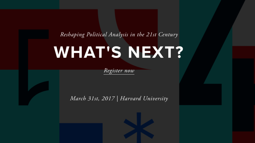 What's Next? and date of Political Analytics 2017 conference