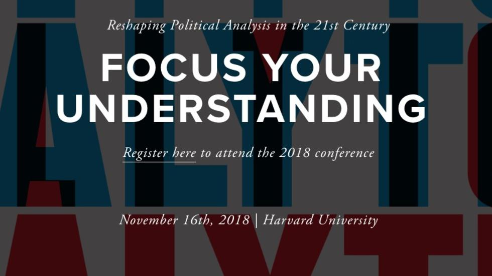 political analytics 2018 conference header and link to website and video