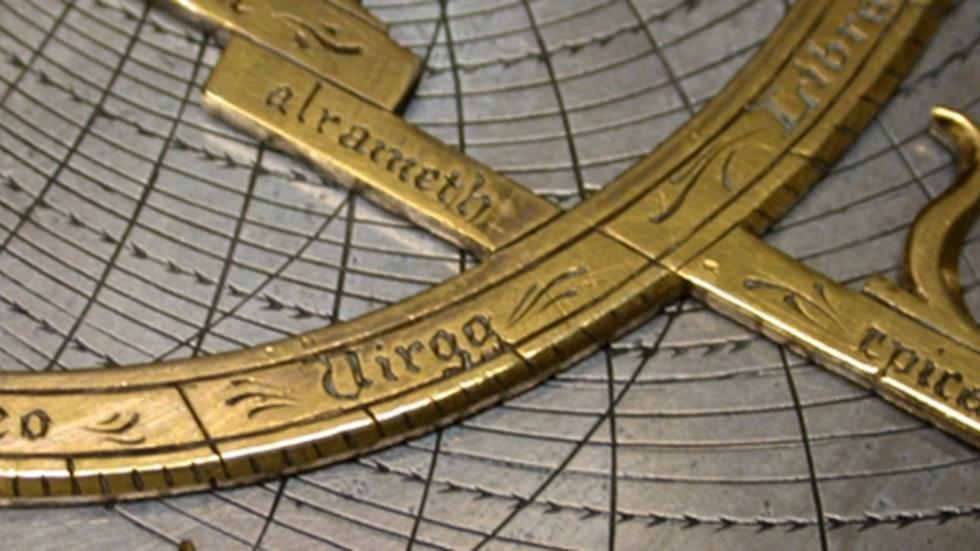 Detail of the Fusoris-type planispheric Astrolabe, French, circa 1590