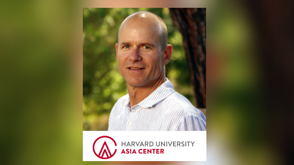 picture of Professor James Robson and Harvard Asia Center logo