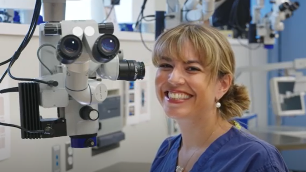 Dr. Ines Lains in the Training Laboratory