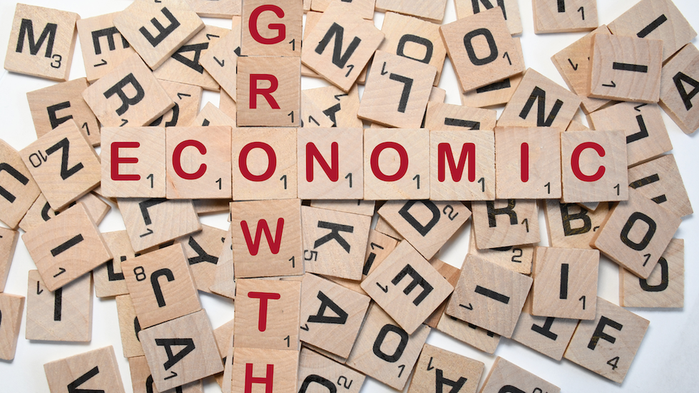 Economic Growth on Scrabble board