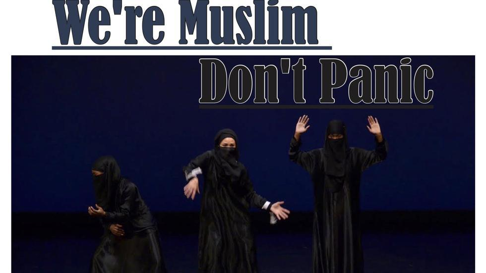 Flyer for We're Muslim Don't Panic