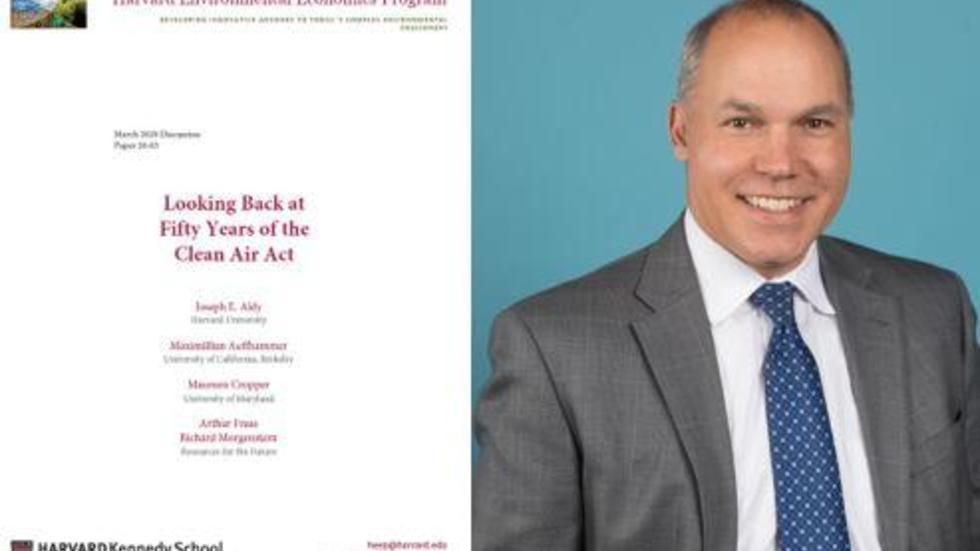 """Looking Back at Fifty Years of the Clean Air Act"" Discussion Paper by HEEP Faculty Fellow, Joseph Aldy, et. al."