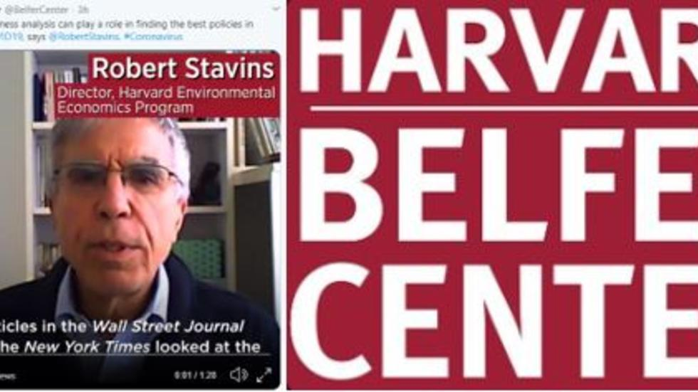 Cost Effectiveness Analysis Can Play a Role in Finding Best Policies in Fighting COVID-19: Robert Stavins, HEEP Director, Interviewed by Harvard Belfer Center
