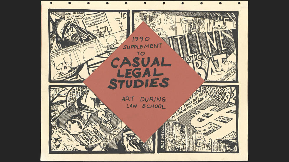 Casual legal studies: art during law school, 1990 supplement, cover