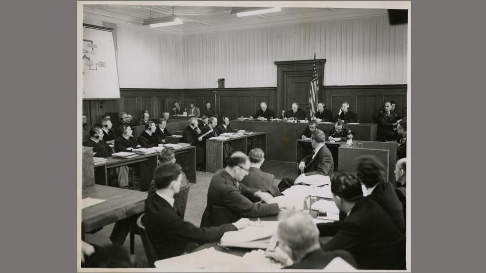 Opening session at the Case Three Nuremberg Trials, 5 March 1947
