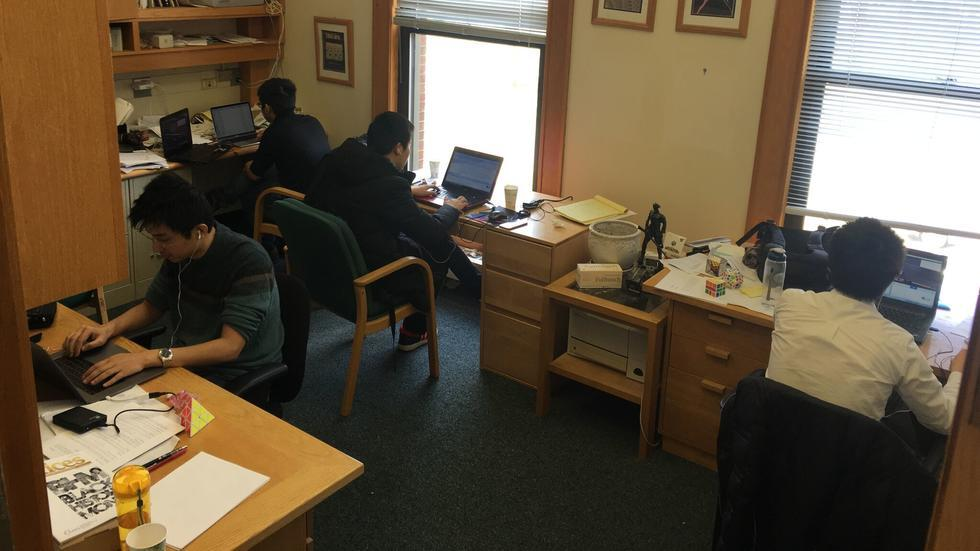 Group members transcribe the lectures of Visiting Professor Adrian Ocneanu's course on higher representation theory.