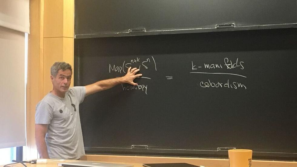 Michael Hopkins from the Harvard Mathematics Department gives a mathematical physics seminar.