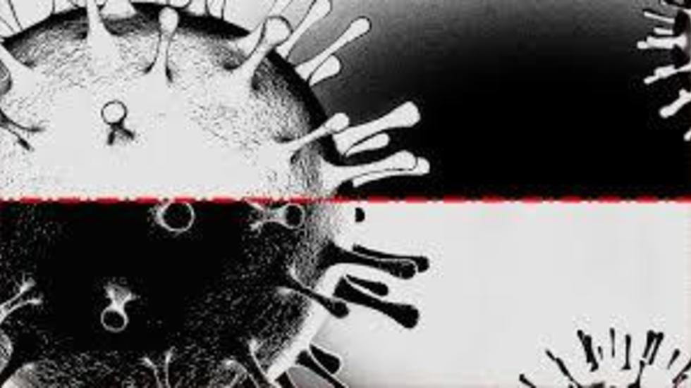 coronavirus in black and white