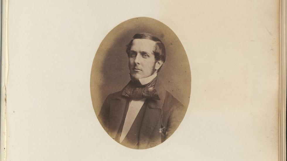 """Theodore Lyman,"" John Adams Whipple, salted paper print, 1855, Harvard University Archives"