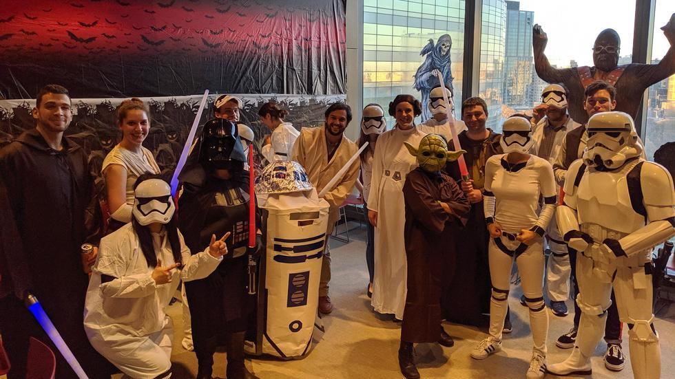lab members in Star Wars costumes