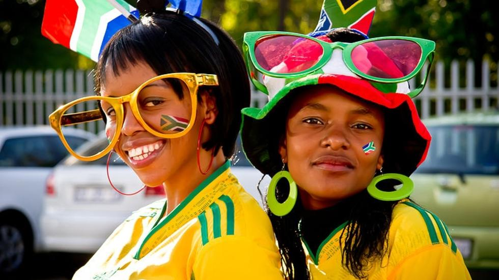 Soccer fans at the 2010 World Cup.