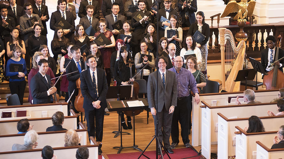 University Choir receives standing ovation at Memorial Church
