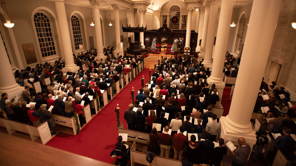 Celebrate Christmas at the Memorial Church | The 110th Annual Christmas Carol Services, Dec. 8 at 5pm & Dec. 10 at 8pm