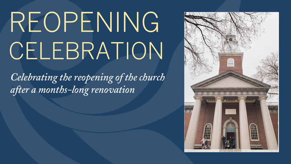Morning Prayers & Bell Dedication, April 21 8:45am | Reopening Service & Celebration, April 23 9:30am