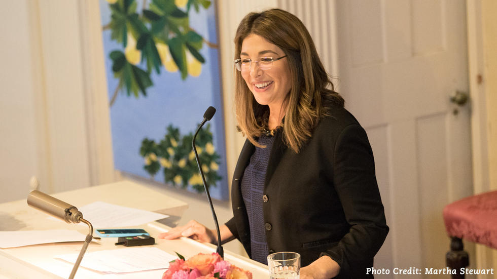 "Image of Naomi Klein 2017 talk entitled ""This Changes Everything"""