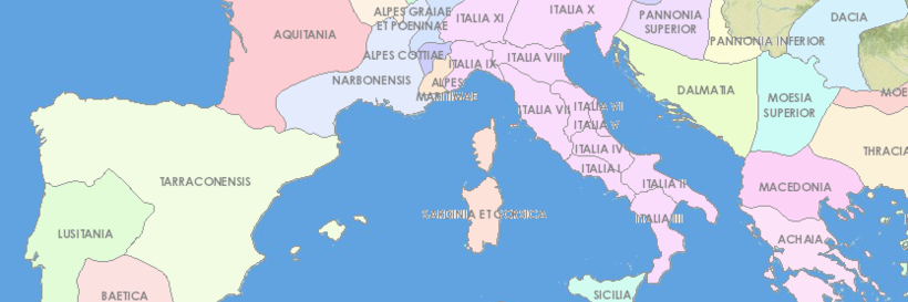 Medieval Map Of Italy.The Digital Atlas Of Roman And Medieval Civilizations