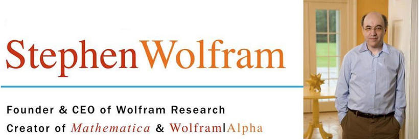 That time of year again! Join us for an innovation talk with Stephen Wolfram, creator of Mathematica and Wolfram Alpha.