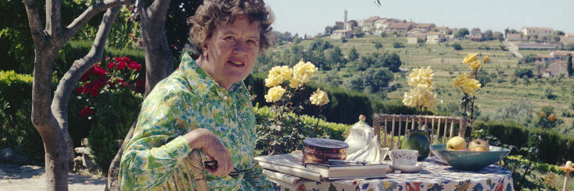 La Pitchoune; 1st breakfast on the terrace; Julia Child