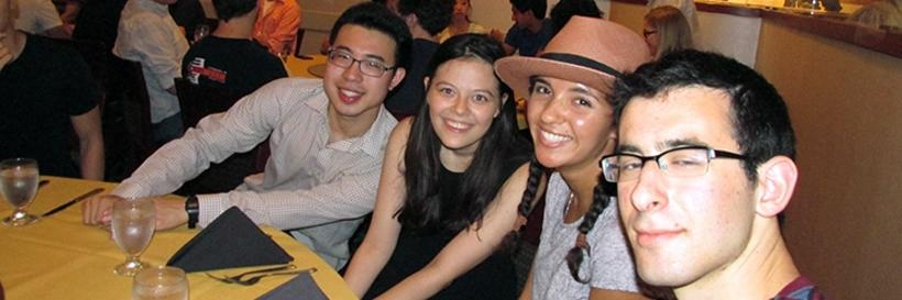 Pictures of summer undergraduate research village 2015 events and of Harvard Yard.