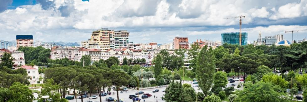 Panorama view to the city, Tirana, Albania
