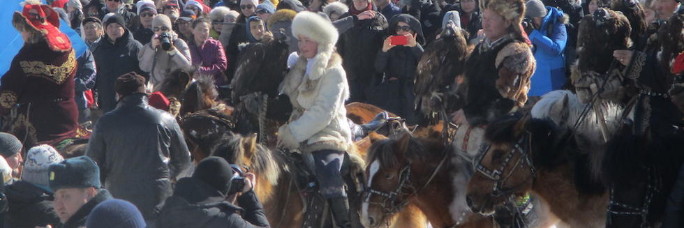 Mongolian riders in crowd photo by A-S Pratte