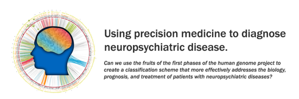 Using precision medicine to diagnose neuropsychiatric disease.