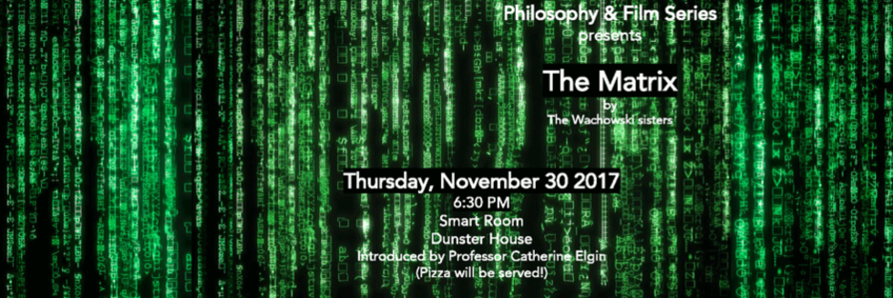 philosophy and film poster for the matrix