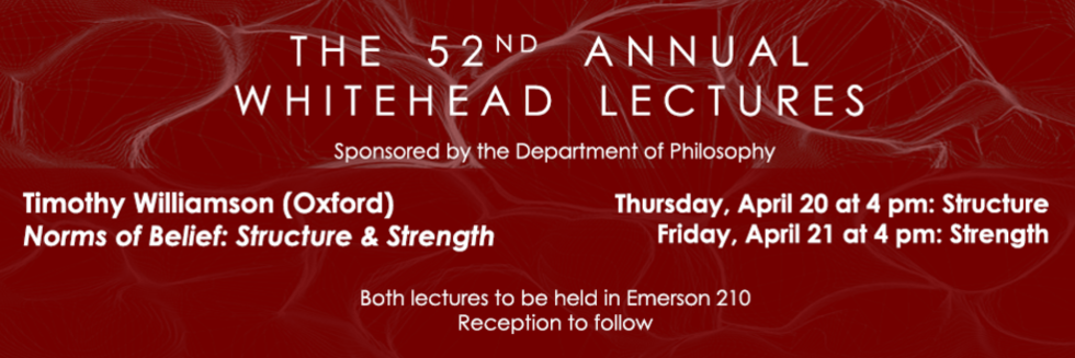 whitehead lecture 2017 announcement