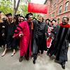 See as well as be seen, advises President Faust at Baccalaureate Service