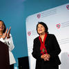 Labor leader Huerta receives medal at Radcliffe Institute