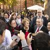 Harvard celebrates Bacow inauguration with giant party in the Yard