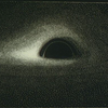 Drawing of a black hole