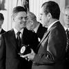 Wilson receives science medal from President Richard Nixon in 1973.