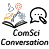 "Image is the ComSciCon logo next to a speech bubble, with ""ComSciConversation"" written beneath"