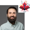 Left: headshot of lucas greville. Right: ComSciCon-GTA logo with red maple leaf, CN tower, and several sciency symbols