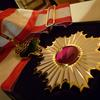 Order of the Rising Sun 3rd Class with Gold Rays and Neck Ribbon
